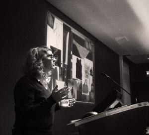Sarah Cooper presenting 1